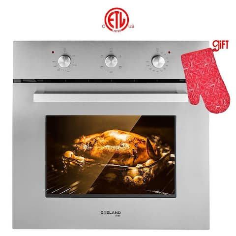 """Gasland Chef 24"""" Electric Built-in Single Wall Oven, 240V 6 Cooking Function, Mechanical Knobs Control, Stainless Steel Finish"""