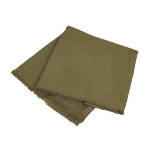 Katie Brown Square Natural Jute Tablecloth w/Fringe Edge 60 X 60 inch