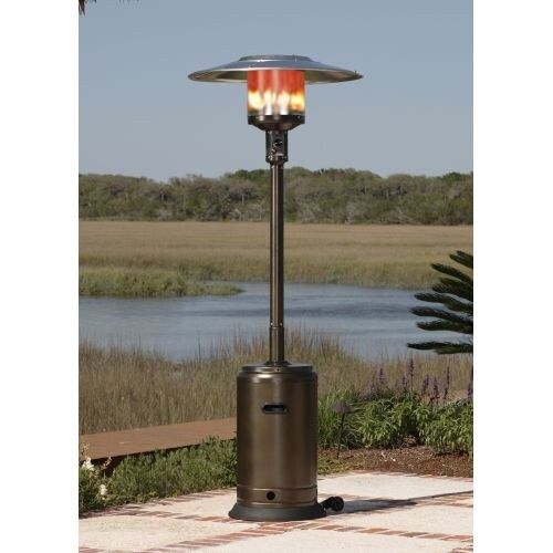 Charmant Fire Sense 60485 Hammer Tone Bronze Commercial Patio Heater