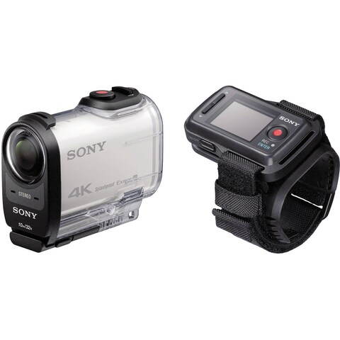 Sony FDR-X1000V 4K Action Cam with Live View Remote Bundle (Open Box)