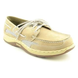 Sebago Clovehitch II Men W Moc Toe Leather Beige Boat Shoe