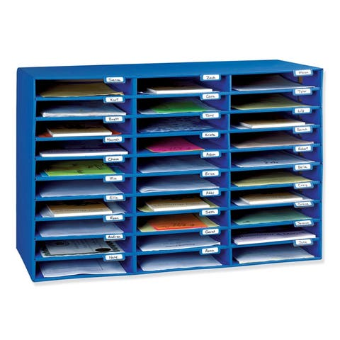 Pacon classroom keepers 30 slot mailbox 001318 - Blue