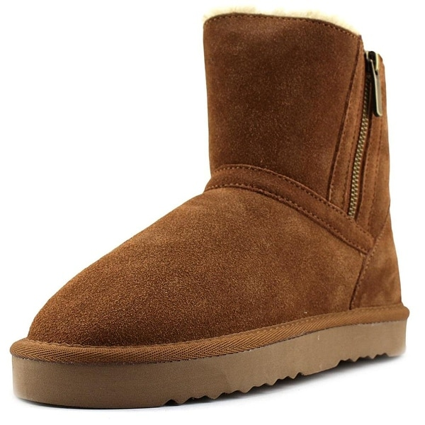 Style & Co. Womens ciley Leather Closed Toe Ankle Cold Weather Boots