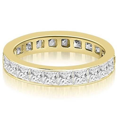 2.50 cttw. 14K Yellow Gold Princess Channel Eternity Ring