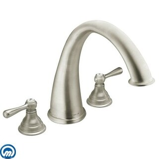 Moen T920 Deck Mounted Roman Tub Faucet Trim from the Kingsley Collection (Less Valve)