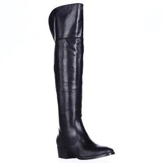 FRYE Clara Back Tassel Over The Knee Slouch Boots - Black
