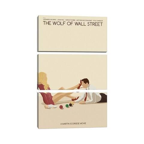 "iCanvas ""Wolf Of Wall Street"" by Claudia Varosio 3-Piece Canvas Wall Art Set"