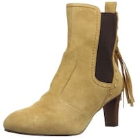 See by Chloé Womens sb29221 Almond Toe Mid-Calf Fashion Boots, cognac, Size 8.5
