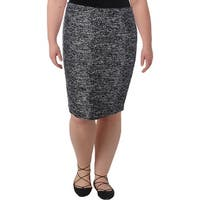 Tommy Hilfiger Womens Pencil Skirt Tweed Textured