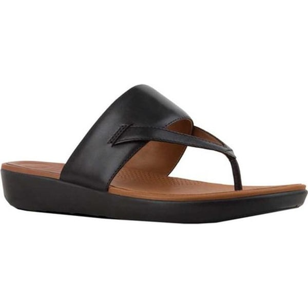 76f2f580c Shop FitFlop Women s Delta Thong Sandal Black Leather - Free ...