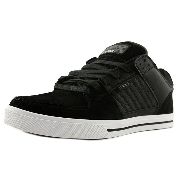 Osiris Protocol Men Round Toe Canvas Black Skate Shoe