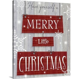 """Merry Little Christmas"" Canvas Wall Art"
