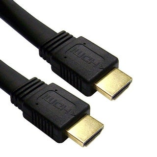 Offex Flat HDMI Cable, High Speed with Ethernet, HDMI Male, CL2 rated, 24 AWG, 25 foot