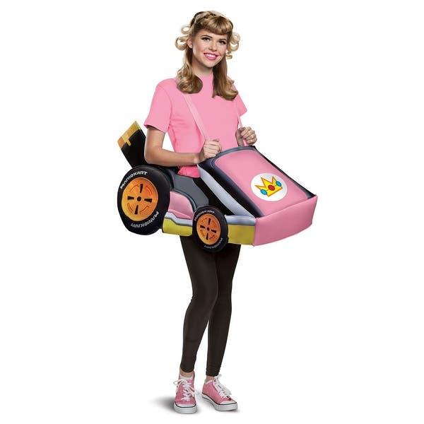 Adult Princess Peach Mario Kart Costume Size Standard Standard One Size