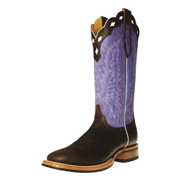 Cinch Western Boots Mens Cowboy Square Dark Brown Purple