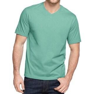 John Ashford Mens T-Shirt V-Neck Short Sleeves
