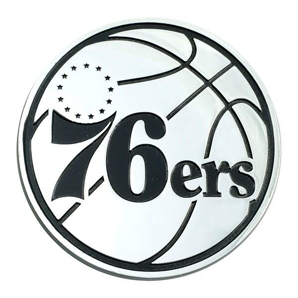 "3"" Stainless Steel and Black NBA Philadelphia 76ers 3D Emblem - N/A"