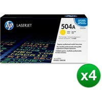 HP 504A Yellow Original LaserJet Toner Cartridge (CE252A)(4-Pack)
