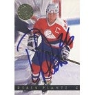 Derek Plante MinnesotaDuluth  Buffalo Sabres 1993 Classic Images Autographed Card  Rookie Card  This item comes wit