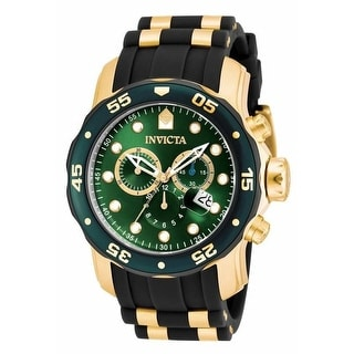 Link to Invicta Men's 17883 'Pro Diver' Scuba Multi-Function Black and Gold-Tone Polyurethane Watch Similar Items in Men's Watches