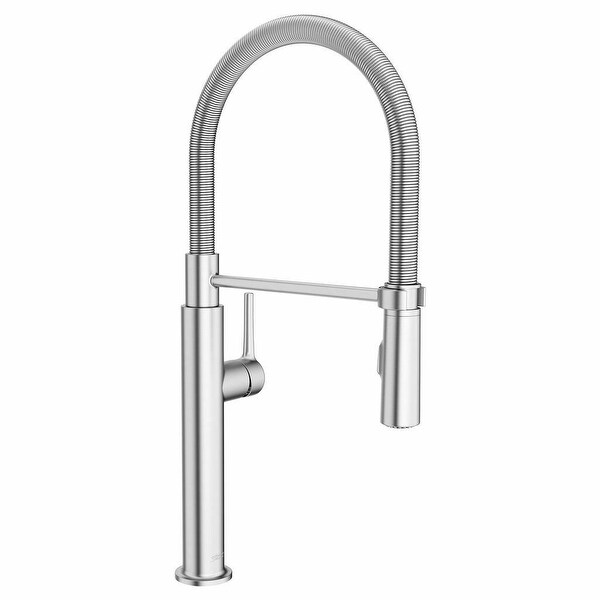 American Standard 4803.350 Studio S 1.8 GPM Single Hole Pre Rinse Kitchen Faucet with Dock-Tite Technology