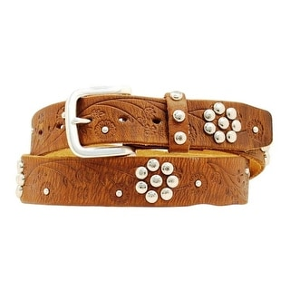 Nocona Western Belt Womens Leather Flower Embossed Barn Wood N3496202
