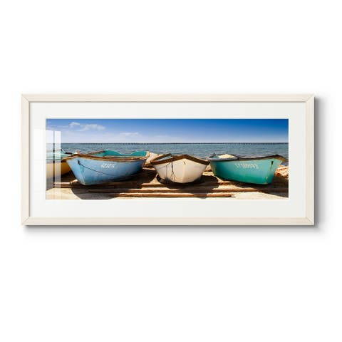 Breakwater Boats-Premium Gallery Framed Print
