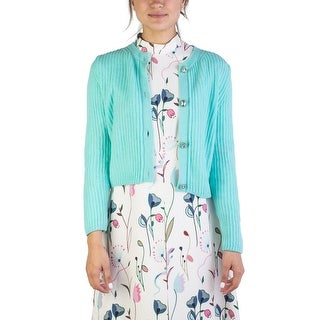 Miu Miu Women's Cashmere Jewel Buttoned Cardigan Aqua - 44