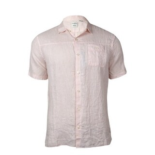 Murano Men's Buttoned Pocket Woven Linen Shirt