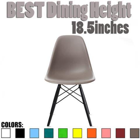 Designer Plastic/ Black Legs Retro Armless Eiffel Chair