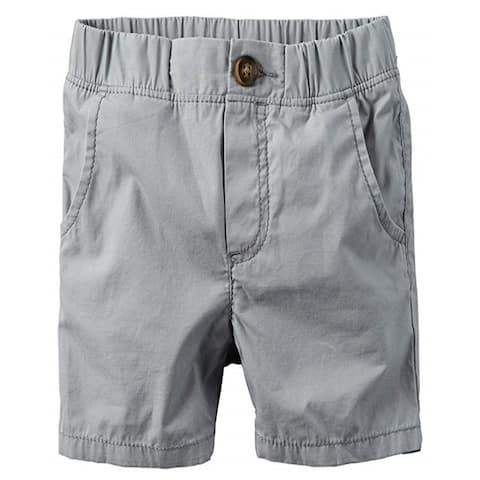 Carter's Baby Boys' Pull-On Poplin Shorts With Side Pockets, Grey, 12 Months
