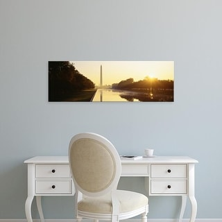 Easy Art Prints Panoramic Images's 'Washington Monument, Washington DC, District Of Columbia, USA' Premium Canvas Art
