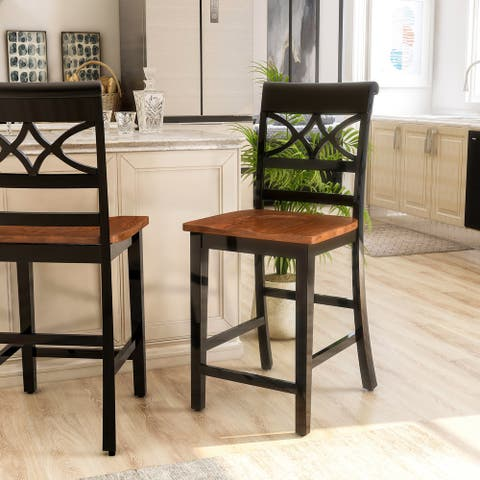 Furniture of America Betsy Joan Duo-tone Counter Chair (Set of 2)
