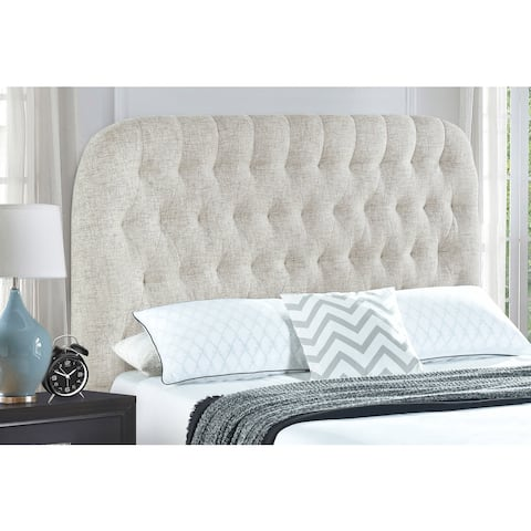 Linen Twin Round Tufted HB