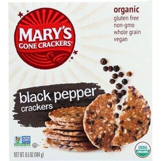 Marys Gone Crackers Crackers - Organic - Black Pepper - Wheat Free - Gluten Free - 6.5 oz - case of 12