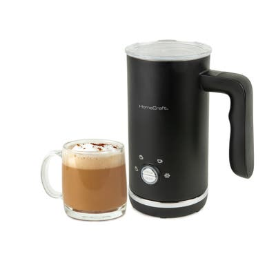 HomeCraft HCMF4BK 4-in-1 Electric Automatic Milk Frother, Black