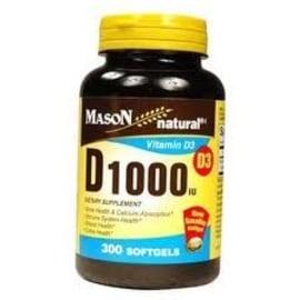 Mason Natural D 1000 IU Softgels 300 Soft Gels