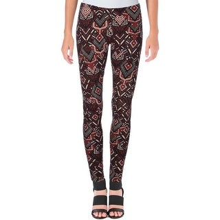 Ultraflirt Womens Juniors Leggings Pull-On Chevron Print
