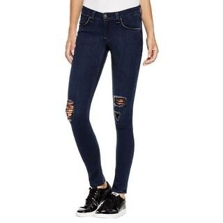 Rag & Bone Womens Skinny Jeans Destoyed Low-Rise