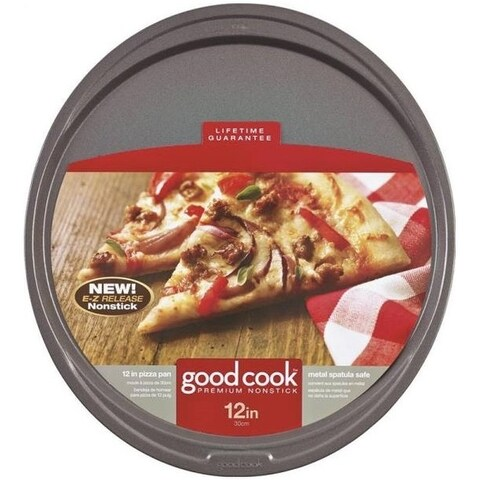 Good Cook 04036 Non-Stick Pizza Pan, 12""