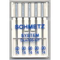 Schmetz Serger Chrome Machine Needles-Size 90/14 5/Pkg