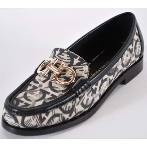 Salvatore Ferragamo Women's $695 ROLO Gancini Moccasins Loafers Shoes