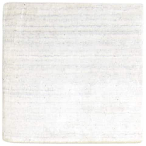 """One of a Kind Hand-Woven Modern & Contemporary (2'0""""x1'11"""") 2' x 3' Solid Wool Rug - 2'0""""x1'11"""""""