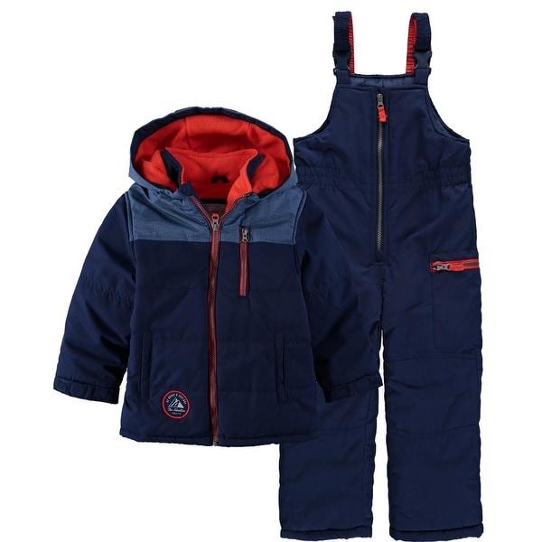 10d564d883ee Shop Carters Boys 12-24 Months Colorblock Snowsuit - Free Shipping ...