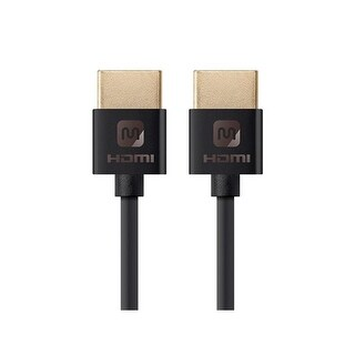 Monoprice 4 ft Ultra Slim HDMI Cable - Black High Speed HDMI Cable