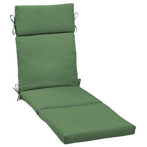 Arden Selections Moss Leala Texture Outdoor Cartridge Chaise Cushion - 72 in L x 21 in W x 3 in H