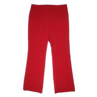 Anne Klein Womens The Connoisseur Flare Leg Flat Front Dress Pants - 14