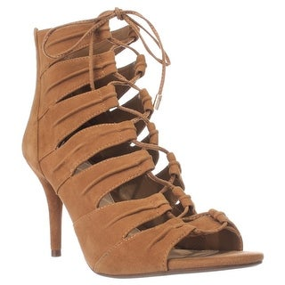 Jessica Simpson Mahiri Gladiator Ankle Booties, Honey Brown