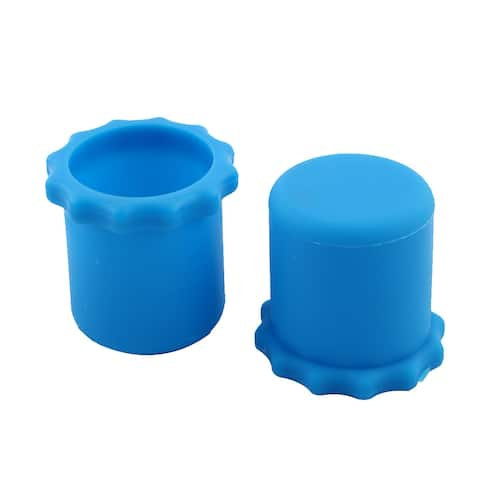 Microphone Bottom Rod Sleeve Anti-rolling Protection Blue 1.3 Inch Dia 2pcs