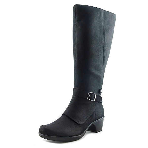 Easy Street Jan Women W Round Toe Synthetic Black Knee High Boot